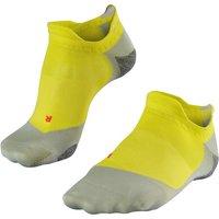 FALKE RU5 Invisible Men Running No Show Socks, 39-41, Yellow