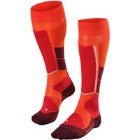 FALKE ST4 Wool Women Skiing Knee-high Socks, 37-38, Orange, Virgin Wool
