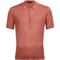 FALKE Polo-Shirt Polo, Men, 50, Red, Block colour, Cotton