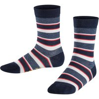FALKE Mixed Stripe Kids Socks, 23-26, Blue, Stripes, Cotton