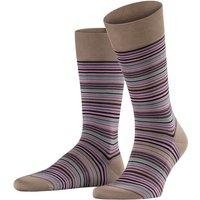 FALKE Microblock Men Socks, 39-40, Beige, Stripes, Cotton