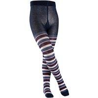 FALKE Mixed Stripe Kids Tights, 122-128, Blue, Stripes, Cotton