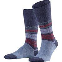 FALKE Folksy Winter Men Socks, 43-46, Blue, Other pattern, Cotton