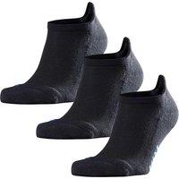FALKE Cool Kick 3-Pack Unisex Sneaker Socks, 42-43, Black, Block colour