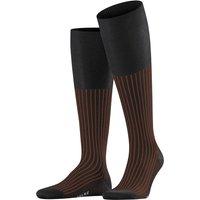FALKE Oxford Neon Men Knee-high Socks, 39-40, Grey, Jacquard, Cotton