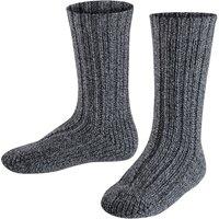 FALKE Boot Kids Socks, 35-38, Grey, Structure, Wool
