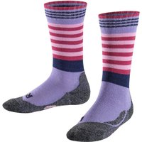 FALKE Frog Kids Socks, 39-42, Purple, Stripes, Wool