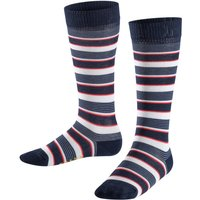FALKE Mixed Stripe Kids Knee-high Socks, 19-22, Blue, Stripes, Cotton