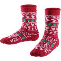 FALKE Christmas Kids Socks, 19-22, Red, Motif, Virgin Wool