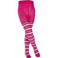 FALKE Mixed Stripe Kids Tights, 80-92, Pink, Stripes, Cotton