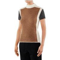 FALKE Women Pullover Round-neck, M, Brown, Other pattern, Alpaca