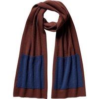 FALKE Men Scarf, ONESIZE, Brown, Block colour, Virgin Wool