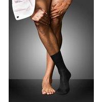 FALKE No. 15 Gentlemen Socks, Men, 45-46, Black, Block colour, Cotton