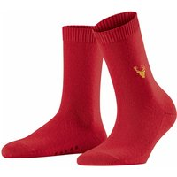 FALKE Cosy Wool Moose Women Socks, 39-42, Red, Block colour, Wool