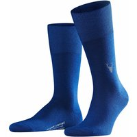 FALKE Airport Moose Men Socks, 45-46, Blue, Motif, Virgin Wool