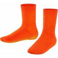FALKE Catspads Kids Socks, 31-34, Orange, Block colour, Cotton