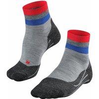 FALKE TK2 Short Ribbons Men Trekking Socks, 42-43, Grey, Stripes, Wool