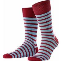 FALKE Even Stripe Men Socks, 43-46, Red, Stripes, Cotton