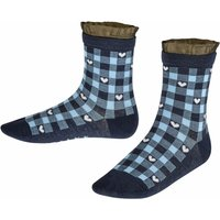 FALKE Vichy Check Kids Socks, 39-42, Blue, Other pattern, Cotton