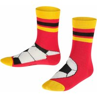 FALKE Soccer Kids Socks, 31-34, Pink, Motif, Cotton