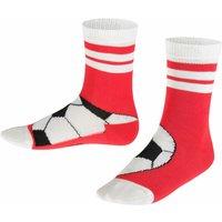 FALKE Soccer Kids Socks, 35-38, Orange, Motif, Cotton