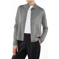 FALKE Women Cardigan Stand-up collar, XS, Grey, Block colour, Cashmere