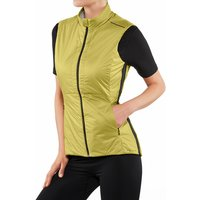 FALKE Women Waistcoat Stand-up collar, XS, Green, Block colour