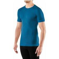 FALKE Men Short sleeved Shirt Cool, S, Blue, Block colour