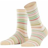 FALKE Polychromatic Women Socks, 35-38, Beige, Stripes, Cotton