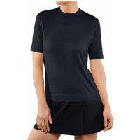 FALKE Women T-Shirt Round-neck, S, Blue, Block colour, Cashmere