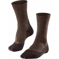 FALKE TK2 Wool Men Trekking Socks, 44-45, Brown, Virgin Wool