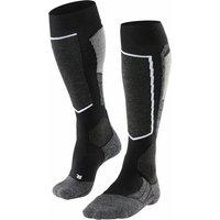 FALKE SK2 Men Skiing Knee-high Socks, 46-48, Black, Wool