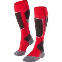 FALKE SK4 Men Skiing Knee-high Socks, 42-43, Red, Wool