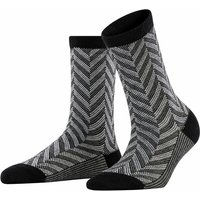 FALKE Arrow Women Socks, 39-42, Black, Jacquard, Virgin Wool