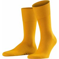 FALKE Airport Men Socks, 41-42, Yellow, Block colour, Virgin Wool