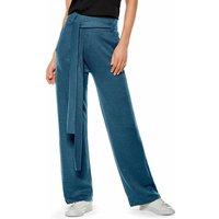 FALKE Women Pants, XS, Blue, Block colour, Linen
