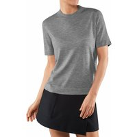 FALKE Women T-Shirt Round-neck, XL, Grey, Block colour, Cashmere