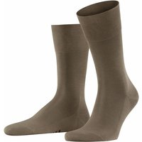 FALKE Tiago Men Socks, 47-48, Brown, Block colour, Cotton