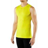 FALKE Men Singlet Cool, L, Yellow, Block colour