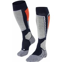 FALKE SK2 Men Skiing Knee-high Socks, 39-41, Blue, Wool