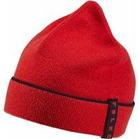 FALKE Beanie, ONESIZE, Red, Block colour, Virgin Wool