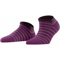 FALKE Stripe Shimmer Women Sneaker Socks, 35-38, Purple, Stripes, Cotton