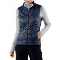 FALKE Women Waistcoat Stand-up collar, L, Blue, Block colour