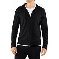 FALKE Men Zip-jacket Hood, XXL, Black, Block colour, Cashmere