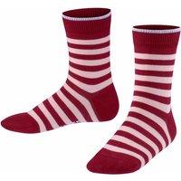 FALKE Double Stripe Kids Socks, 27-30, Red, Stripes, Cotton
