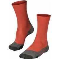 FALKE TK2 Men Trekking Socks, 42-43, Red, Wool