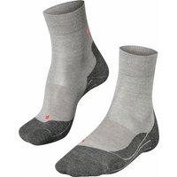 FALKE RU4 Wool Women Running Socks, 37-38, Grey, Virgin Wool