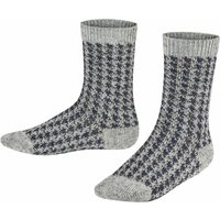 FALKE Pepita Tweed Kids Socks, 23-26, Grey, Other pattern, Cotton