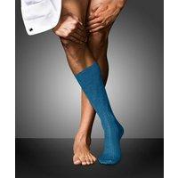 FALKE No. 10 Pure Fil d'Ecosse Gentlemen Socks, Men, 43-44, Blue, Block colour, Cotton