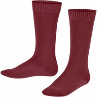 FALKE Comfort Wool Kids Knee-high Socks, 39-42, Red, Block colour, Virgin Wool